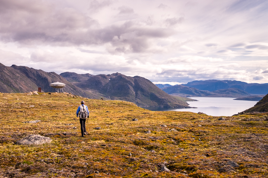 Hiking towards the UFO -  Sisimiut UFO hike - West Greenland