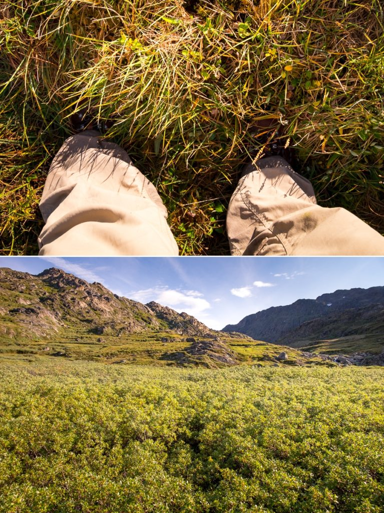 Disappearing boots (top) and almost disappearing bodies (bottom) -  Sisimiut UFO hike - West Greenland