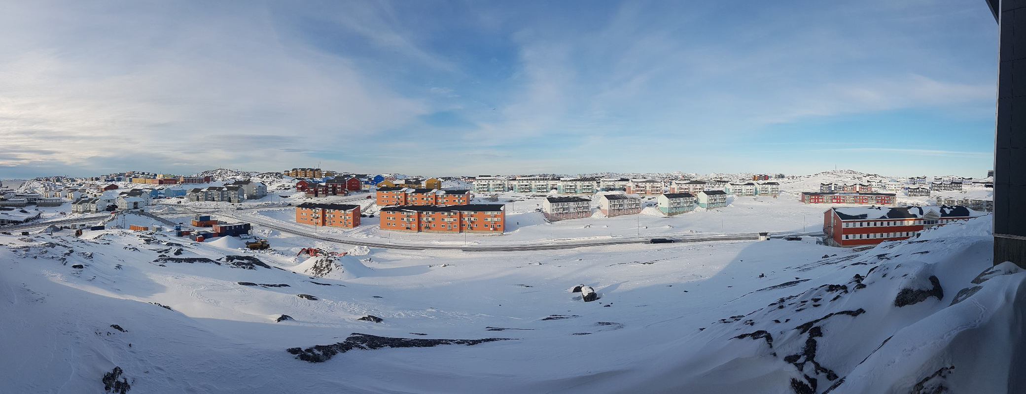 Panorama from the balcony of my small apartment in Nuuk - West Greenland