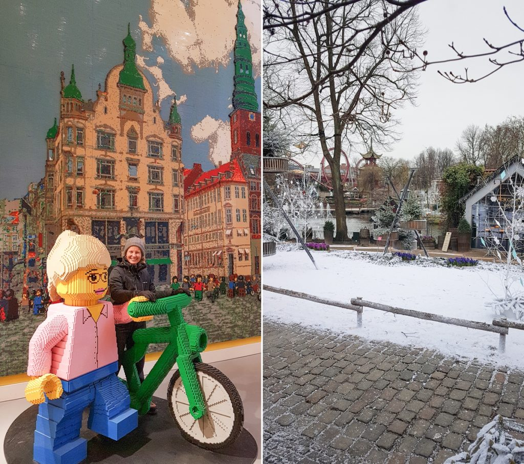 image of me at the lego shop and tivoli gardens in copenhagen