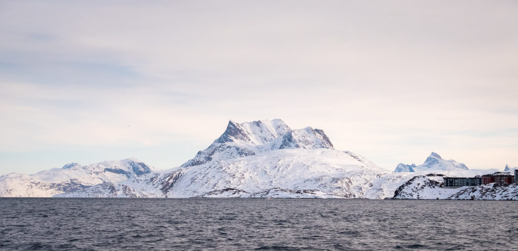Sermitsiaq mountain as seen from near Nuuk, West Greenland