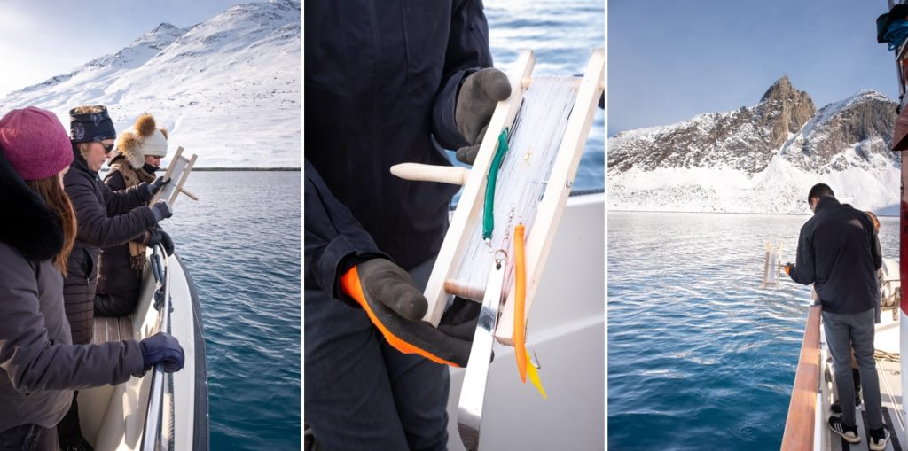 Images of fishing and the fishing apparatus used - Nuuk fjord safari - West Greenland