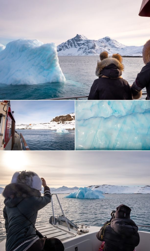 Images of a small iceberg we found as part of the excursion - near Nuuk, West Greenland
