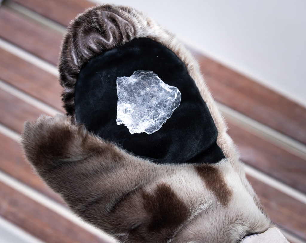 pure ice in a sealskin glove