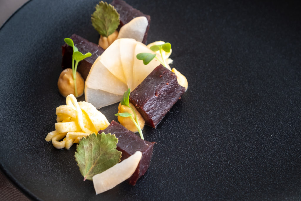 Cold smoked humpback whale - Sarfalik Tasting Menu - Nuuk -West Greenland