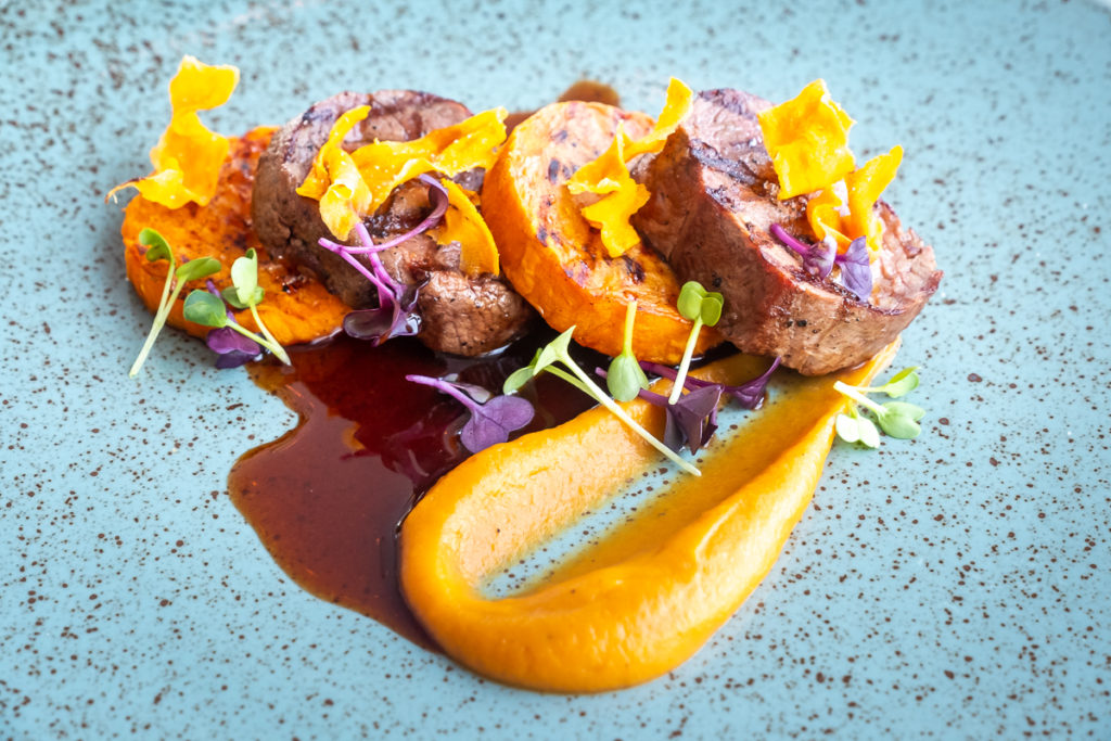 Musk Ox with Grilled Sweet Potato - Sarfalik Tasting Menu - Nuuk Greenland