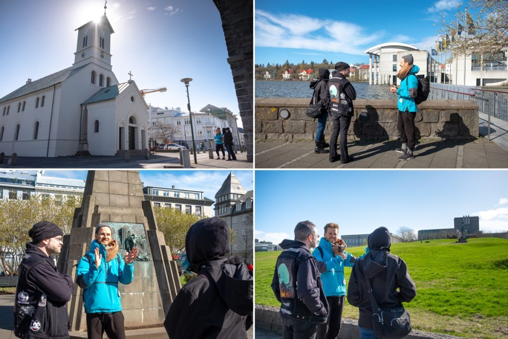 Various sites along the Walk with a Viking Tour with Your Friend in Reykjavik, Iceland