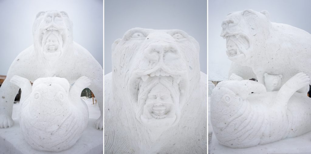 Winner of the non-figurative category of the 2019 Nuuk Snow Festival - West Greenland