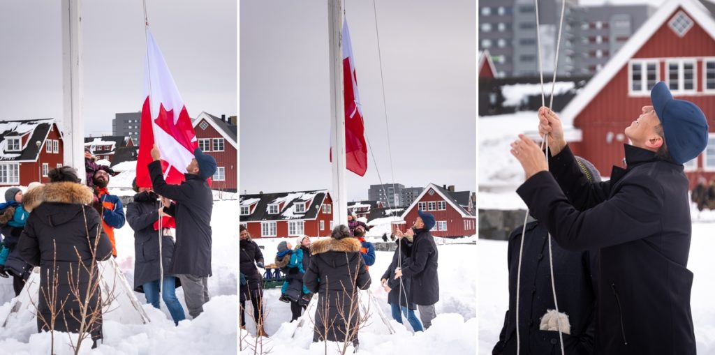 Montage of the hoisting of Miki's flag - Nuuk Multi Kulti - West Greenland