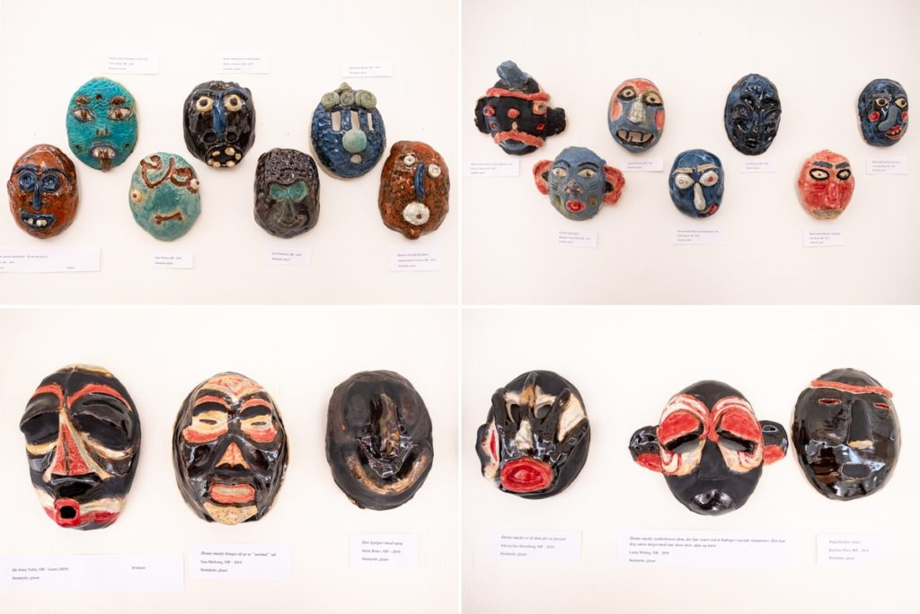 Cultural masks as part of  - Nuuk Multi Kulti - West Greenland