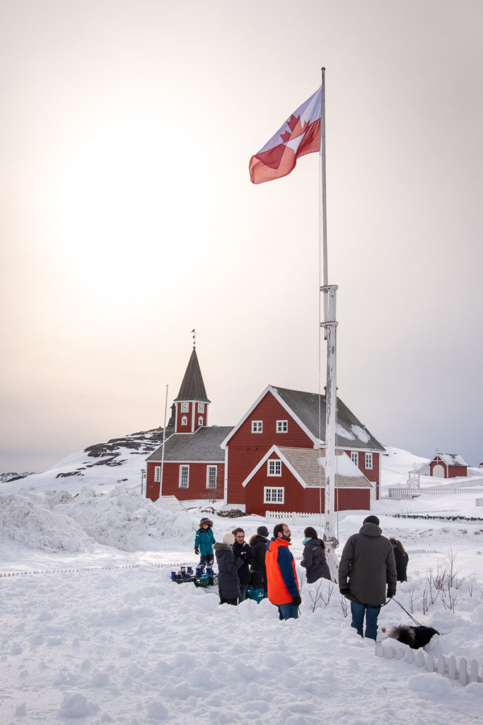 Artist flag flying high  - Nuuk Multi Kulti - West Greenland