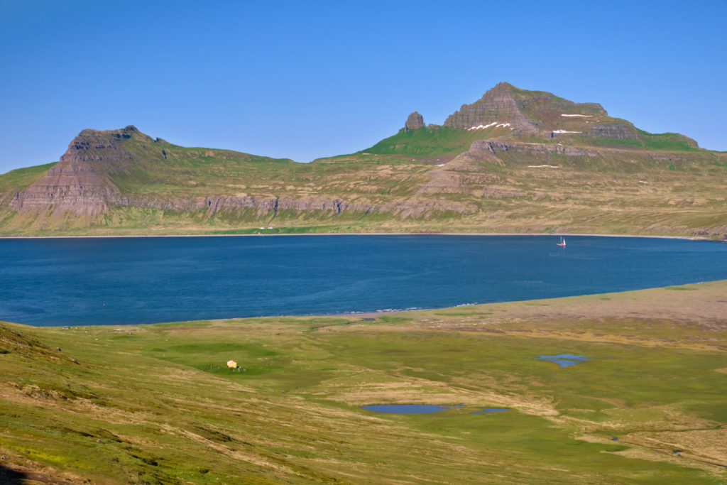 View of Hornvík campsite and the Horn - Hornstrandir - Iceland