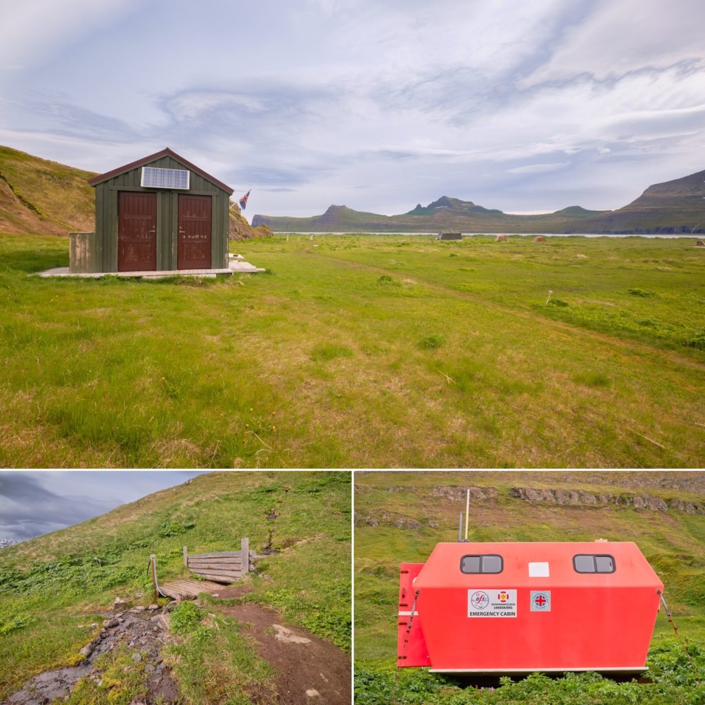Images of infrastructure at Hornvík campsite - Hornstrandir - Iceland