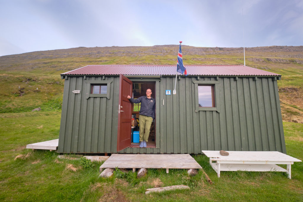 Ranger at the rangers station at Hornvík campsite - Hornstrandir - Iceland