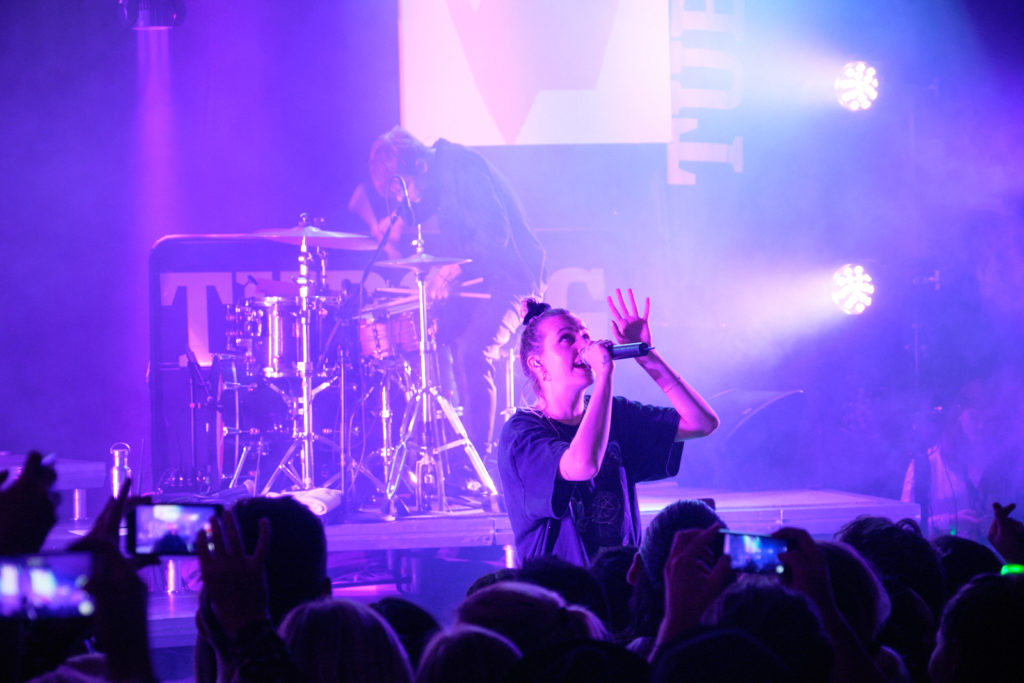 MØ performing at the Akisuanerit Festival in Nuuk 2019