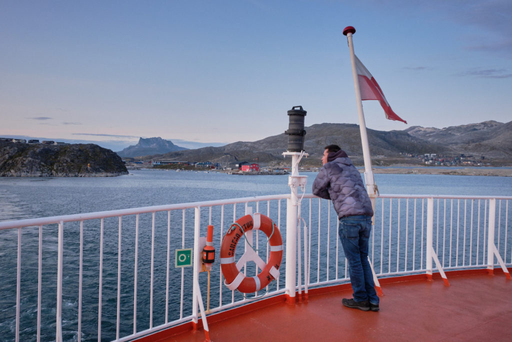 Departing Nuuk on board Sarfaq Ittuk