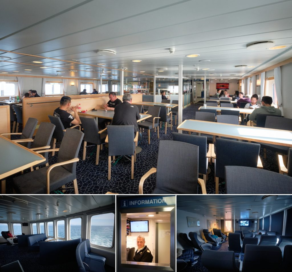 Interior public spaces of Sarfaq Ittuk passenger Ferry