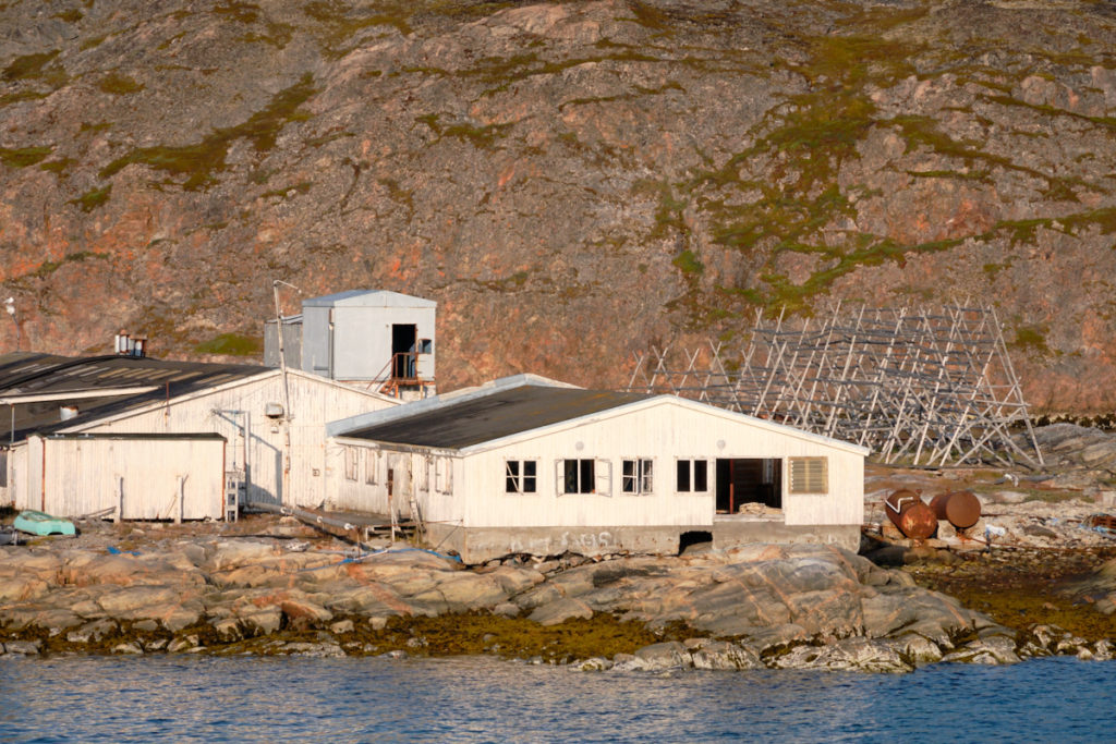 Abandoned fish factory in Aasiaat harbour  - Sarfaq Ittuk - West Greenland