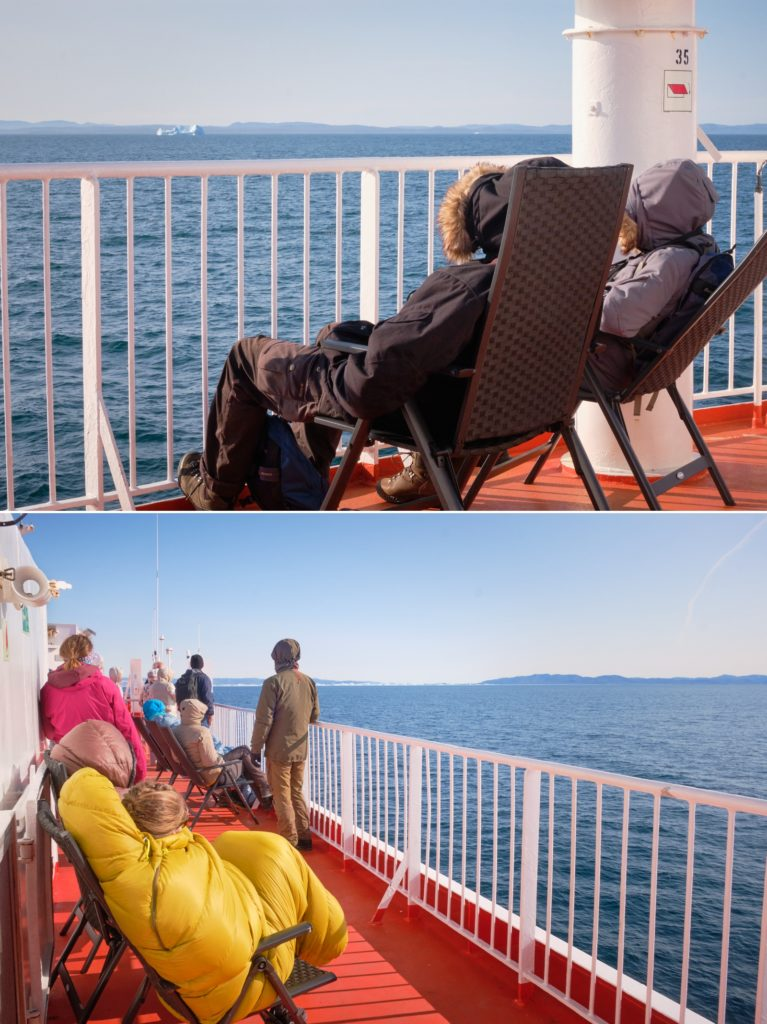 Everybody out on deck for Disko Bay crossing  - Sarfaq Ittuk - West Greenland