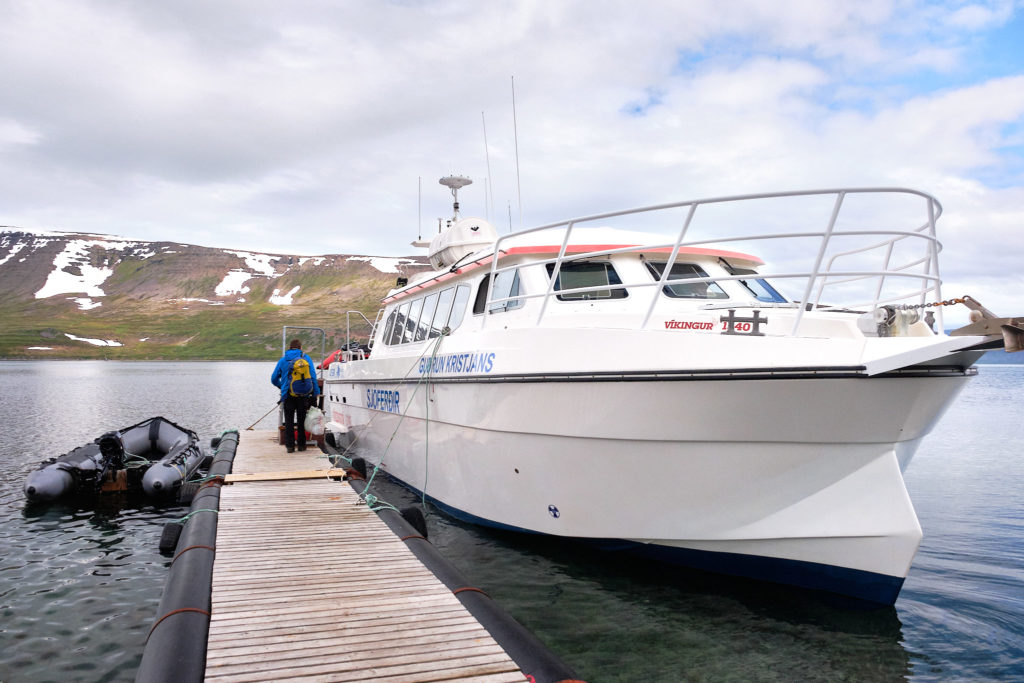 One of the transfer boats between Ísafjörður and Hornstrandir