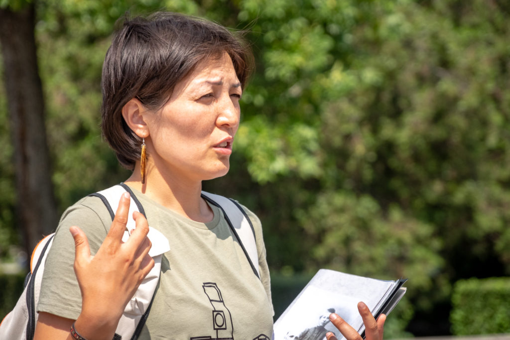 The amazing and extremely knowledgeable Rahat from Bishkek walking tours - Kyrgyzstan