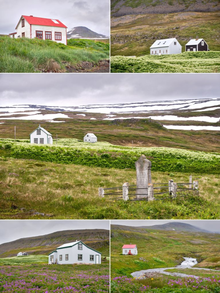 Some of the buildings of Hesteyri - Hornstrandir - Iceland