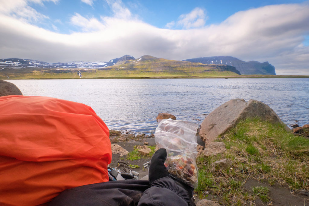 Stopped for lunch on the way to Horvik  - Hornstrandir -Iceland