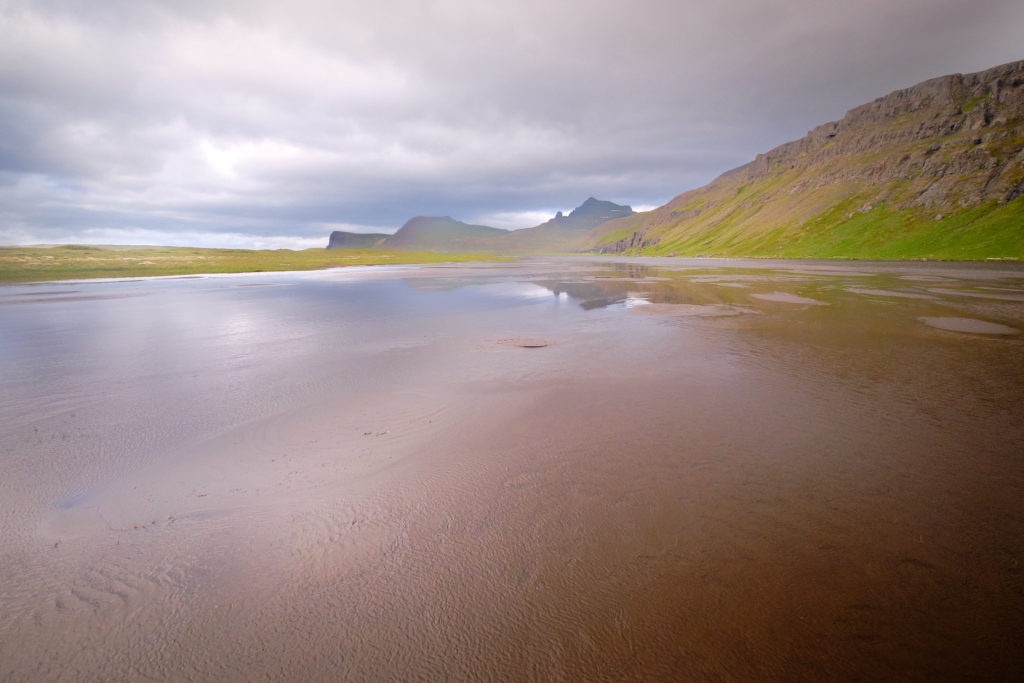 View down the river at the crossing near Horvik - Hornstrandir -Iceland