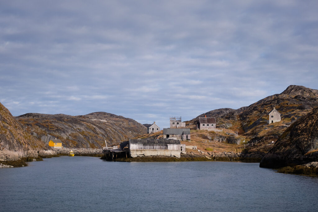 Sailing into the abandoned settlement of Kangeq-Nuuk-Greenland