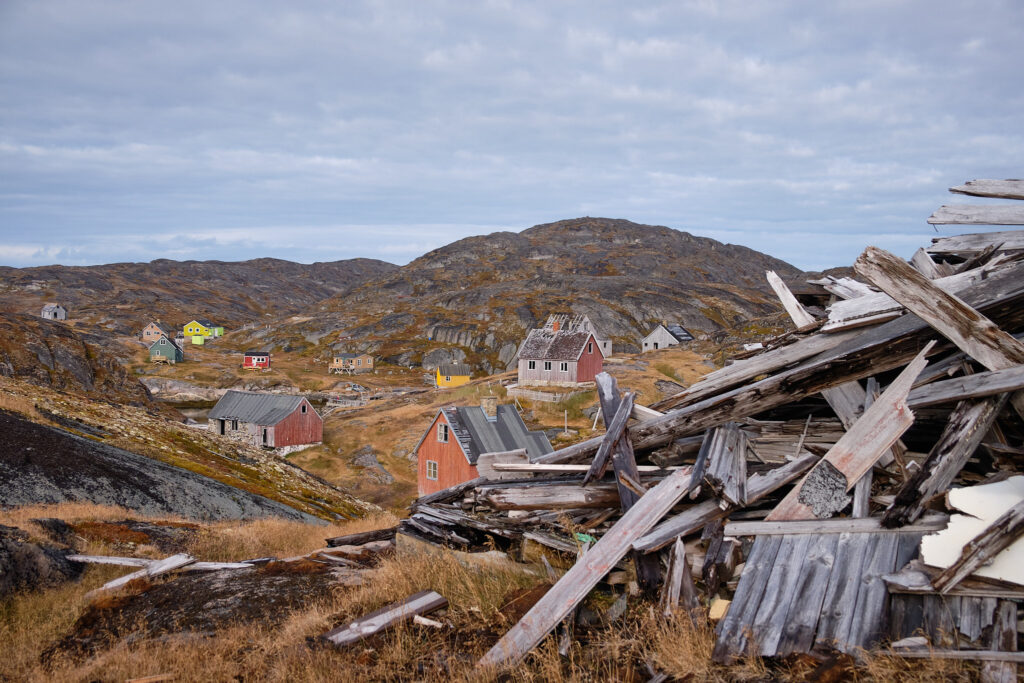 The abandoned settlement of Kangeq near Nuuk-Greenland