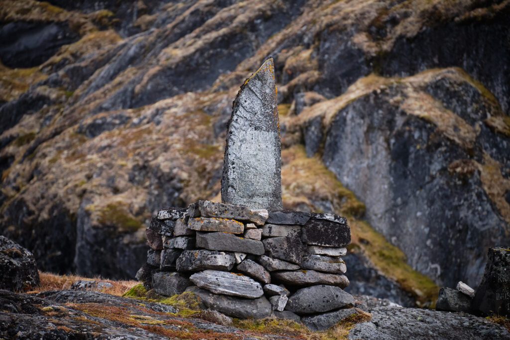 The monument to Hans Egede at the Island of Hope near Nuuk-Greenland.jpg