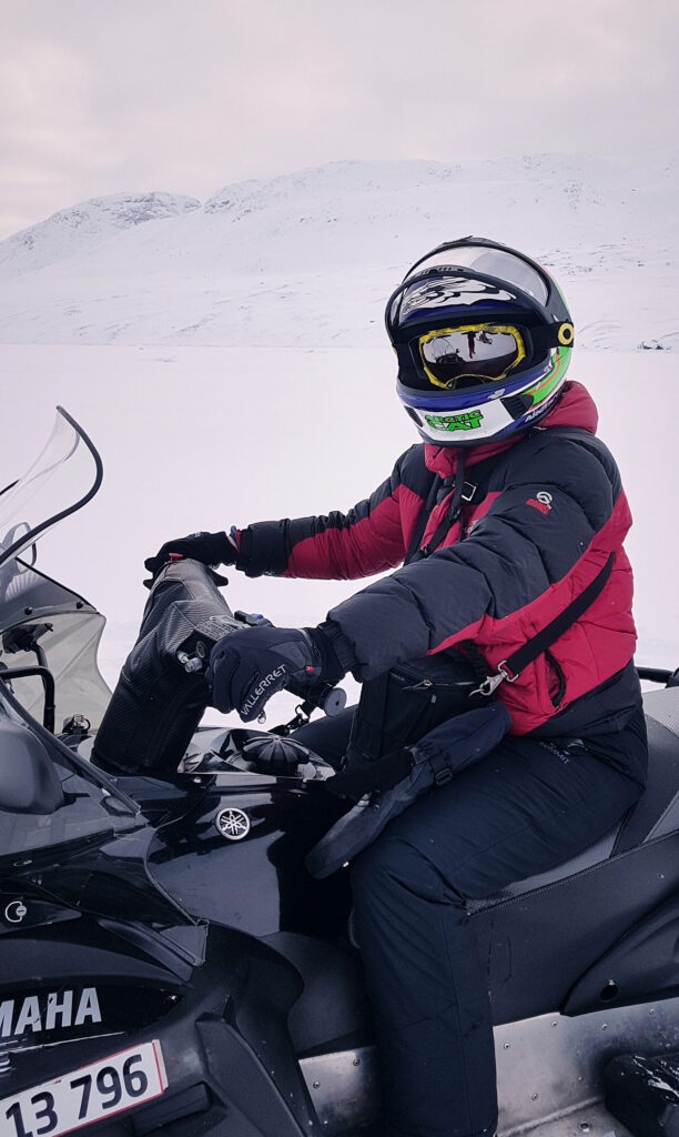 Me on the snowmobile near Sisimiut
