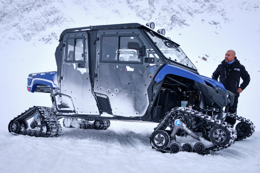The monster snowmobile from Sisimiut Hotel and Tours