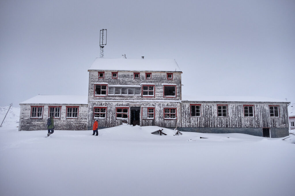 Admin building - Nordafar Abandoned fish factory near Nuuk