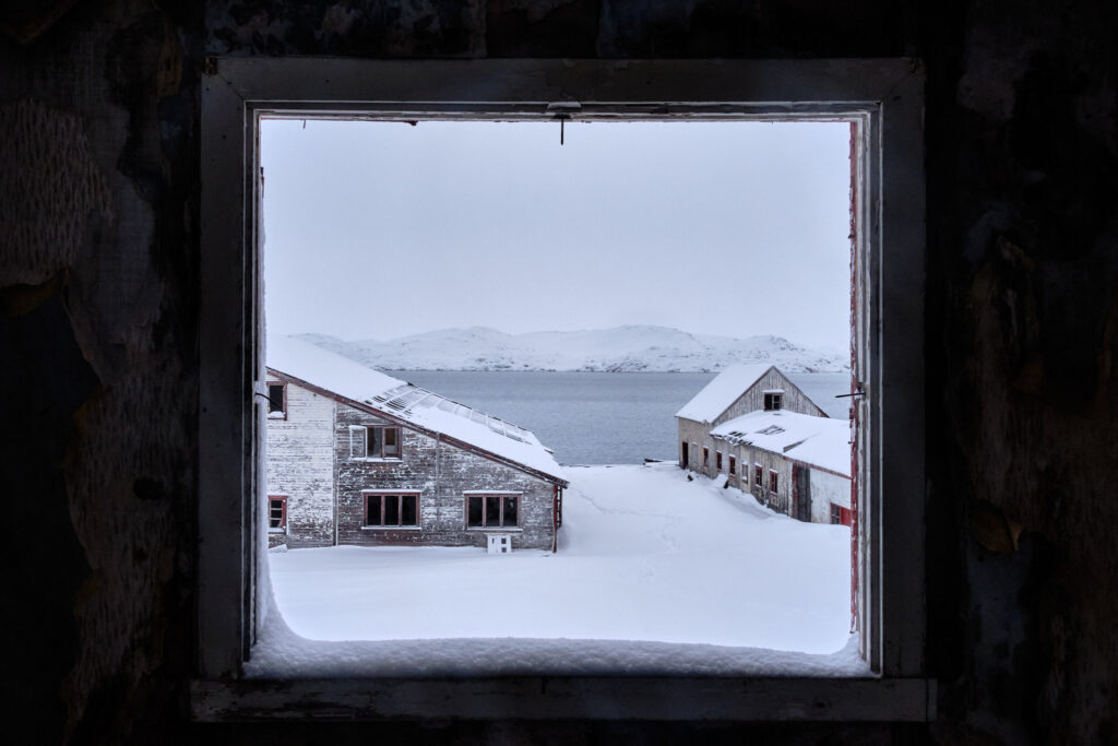View from admin building - Nordafar Abandoned fish factory near Nuuk