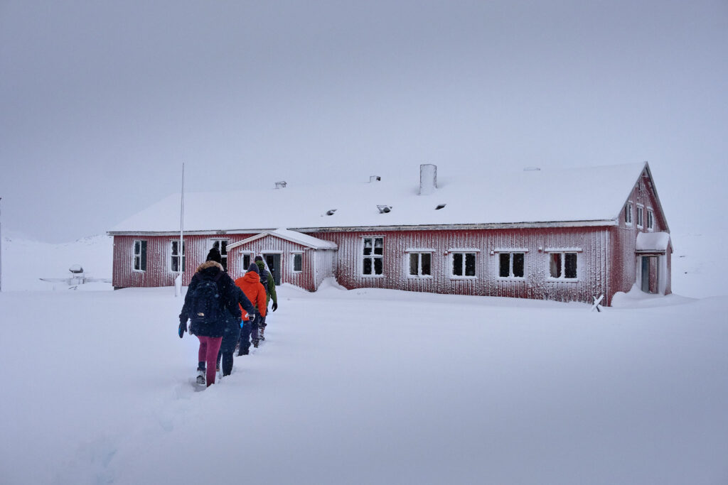 Walking to community hall - Nordafar Abandoned fish factory near Nuuk
