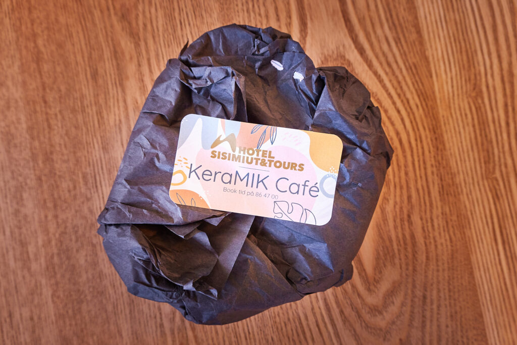 Ready to collect and specially wrapped at Keramik Cafe at the Hotel Sisimiut