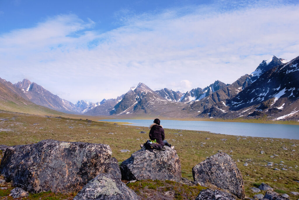The view over the first lake at Sassannguit - Sisimiut - Greenland