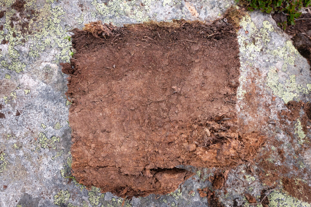 peat - used for burning in Greenland