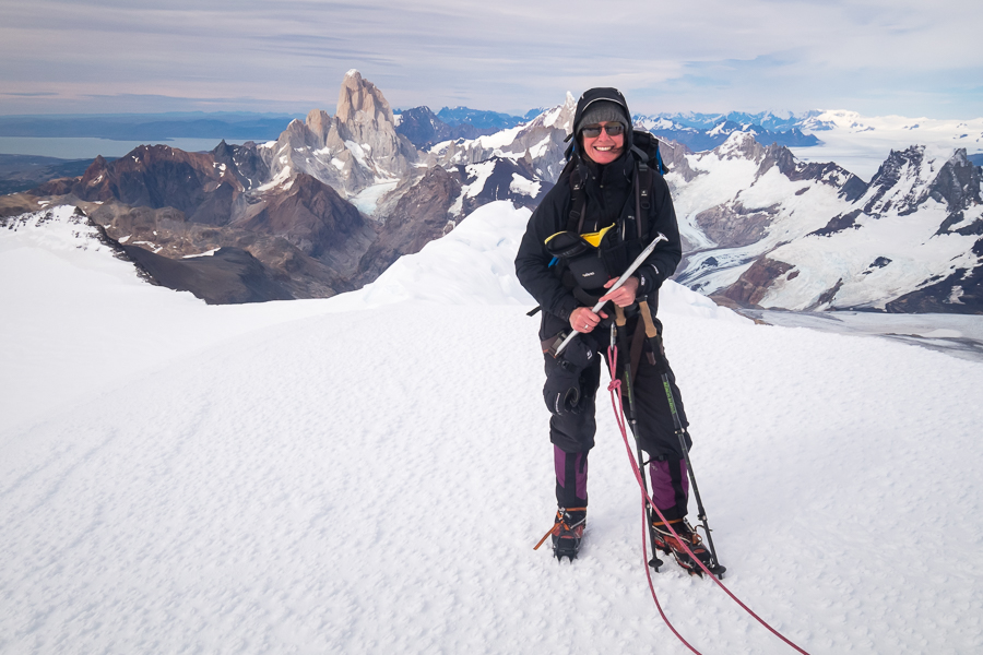 Me at the summit of Gorra Blanca - South Patagonia Icefield Expedition - Argentina